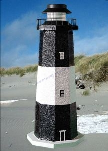 Tybee Island Stucco Electric Landscape Lighthouse 24