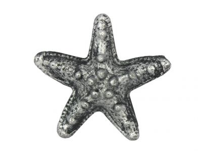Antique Silver Cast Iron Starfish Paperweight 3\