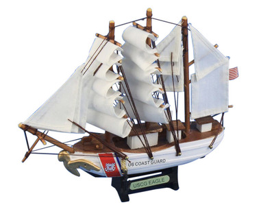 Wooden United States Coast Guard USCG Eagle Model Ship 7\