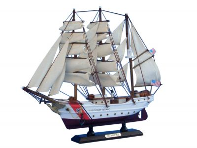 Wooden United States Coast Guard USCG Eagle Model Ship 15\