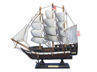Wooden Constitution Tall Model Ship 10""