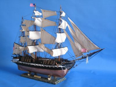 Picture of a model of the USS Constitution