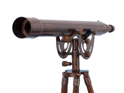 Floor Standing Antique Copper Anchormaster Telescope 50