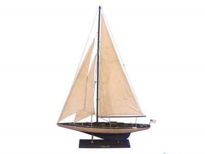Wooden Vintage Enterprise Limited Model Sailboat Decoration 35\