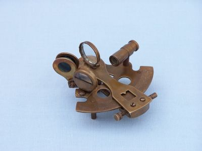 Antique Brass Sextant Paperweight 3