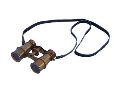 "Scouts Antique Brass Binoculars 4"""