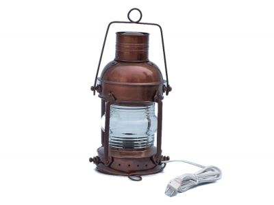 Antique Copper Anchormaster Electric Lantern 15