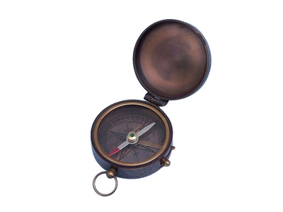 Antique Copper Lewis and Clark Pocket Compass 3
