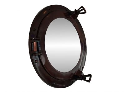 Deluxe Class Antique Copper Porthole Mirror 15