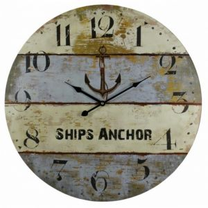 Wooden Vintage Ships Anchor Clock 23