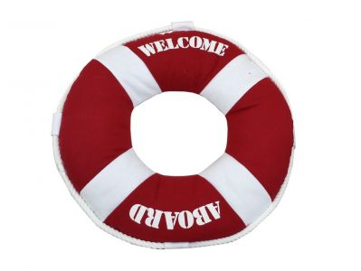 Red Welcome Aboard Pillow 14