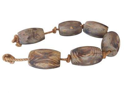 Wooden Weathered Floats with Rope 50