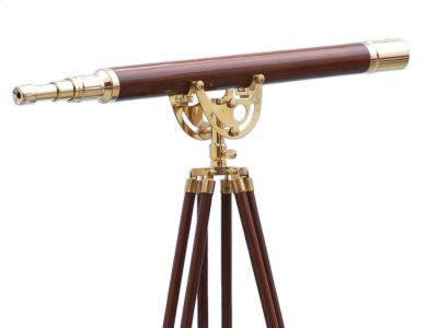 Floor Standing Brass-Wood Anchormaster Telescope 65