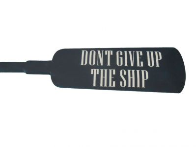 Wooden Don Donandapos;t Give up the Ship Squared Rowing Oar with Hooks 62