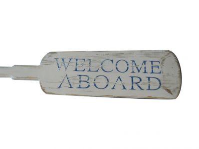 Wooden Rustic Welcome Aboard Decorative Rowing Oar 62