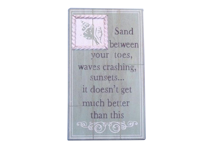 Wooden Sand Between Your Toes Beach Sign 15