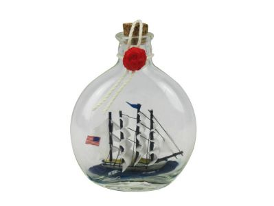 Flying Cloud Model Ship in a Glass Bottle 4""