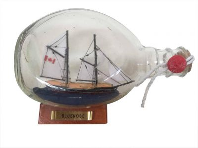 Bluenose Sailboat in a Glass Bottle 7\