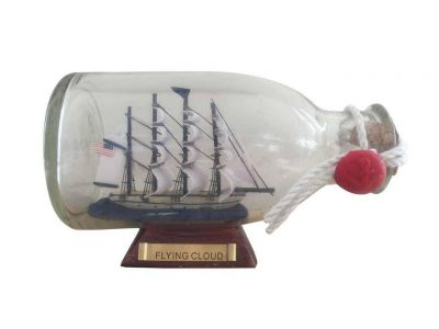 Flying Cloud Model Ship in a Glass Bottle 5\