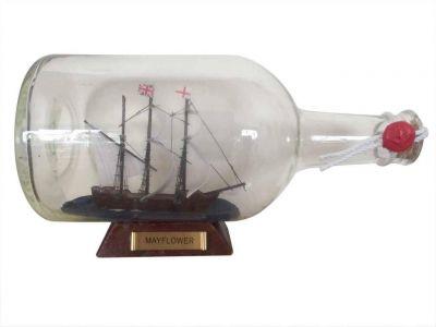 Mayflower Model Ship in a Glass Bottle  9\