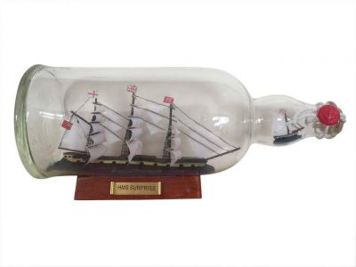 Master And Commander HMS Surprise Model Ship in a Glass Bottle 11\
