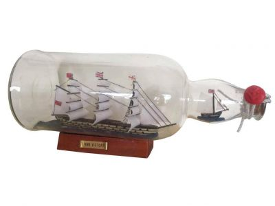 HMS Victory Model Ship in a Glass Bottle 11\