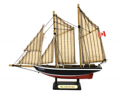 Wooden Bluenose Model Sailboat Decoration 7\