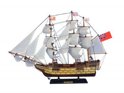 Wooden HMS Victory Tall Model Ship 24""