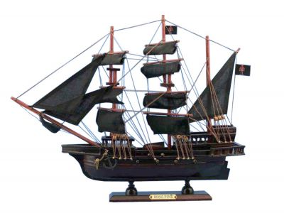Wooden Ed Low's Rose Pink Model Pirate Ship 20""