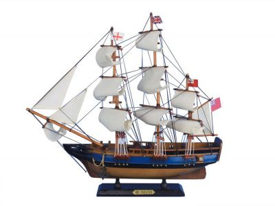 Wooden HMS Endeavour Tall Model Ship 20""