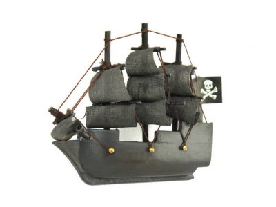 Wooden Flying Dutchman Model Pirate Ship Magnet 4""