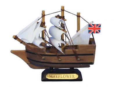 Wooden Mayflower Tall Model Ship 4\