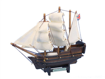 Wooden Mayflower Tall Model Ship 7""
