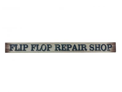 Wooden Flip Flop Repair Shop Beach Sign 18