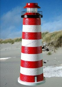 West Quoddy Stucco Low-Voltage Landscape Lighthouse 24