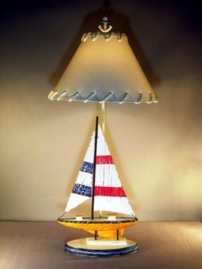 Yellow Sailboat Electric Lamp 35