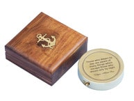 Solid Brass Edgar Allan Poe Poem Compass 4