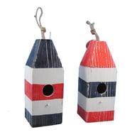 Wooden Buoy Birdhouses 12 - Set of 2