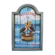 Wooden Welcome to Our Resting Place Wall Plaque 18