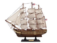 "Wooden USS Constitution Tall Model Ship 15"" picture"