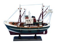 Wooden Stars and Stripes Model Fishing Boat 16