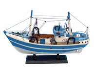 Wooden Iandapos;m Hooked Model Fishing Boat 19