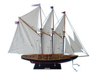 "Wooden Atlantic Model Sailboat Decoration 35"" picture"