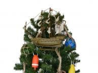 Sovereign of the Seas Model Ship Christmas Tree Topper Decoration  picture