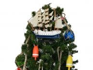 Wooden Christian Radich Model Ship Christmas Tree Topper Decoration
