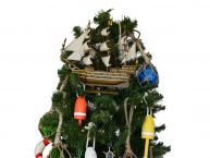 Wooden San Felipe Model Ship Christmas Tree Topper Decoration