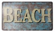 Rustic Tin Beach Sign 10