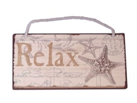 "Tin Relax Sign 8"" picture"