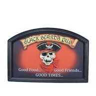 Wooden Blackbeards Pub Wall Sign 18