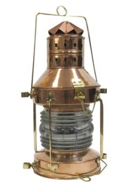 Copper and Brass Anchor Oil Lantern 20